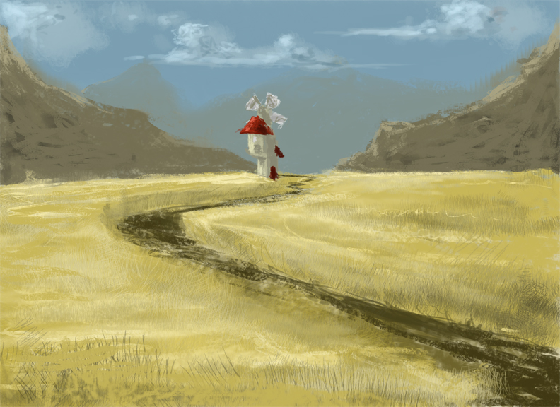 30 minute speed paint to get the day started.