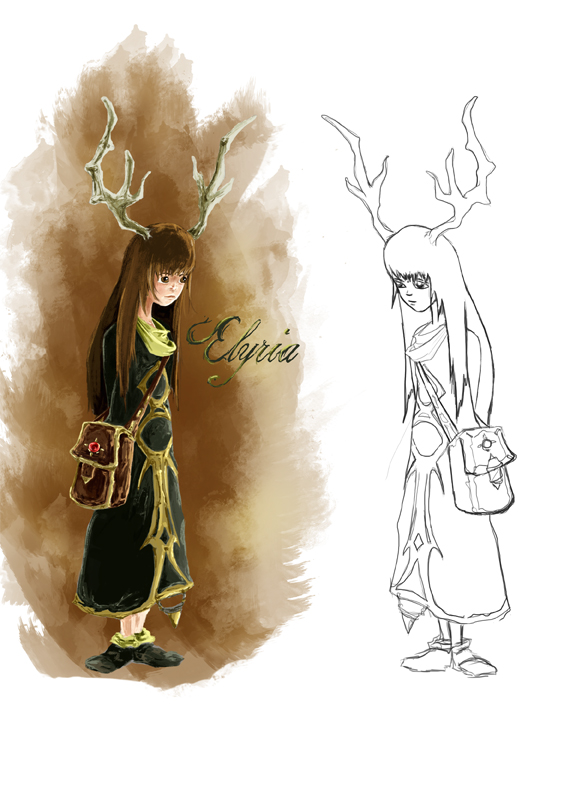 This is Elyria. She will be the main female character in the book. She is also what the book is named after. :)