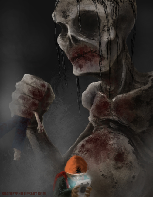 A potential cover idea for the book. Also happy Halloween! :)