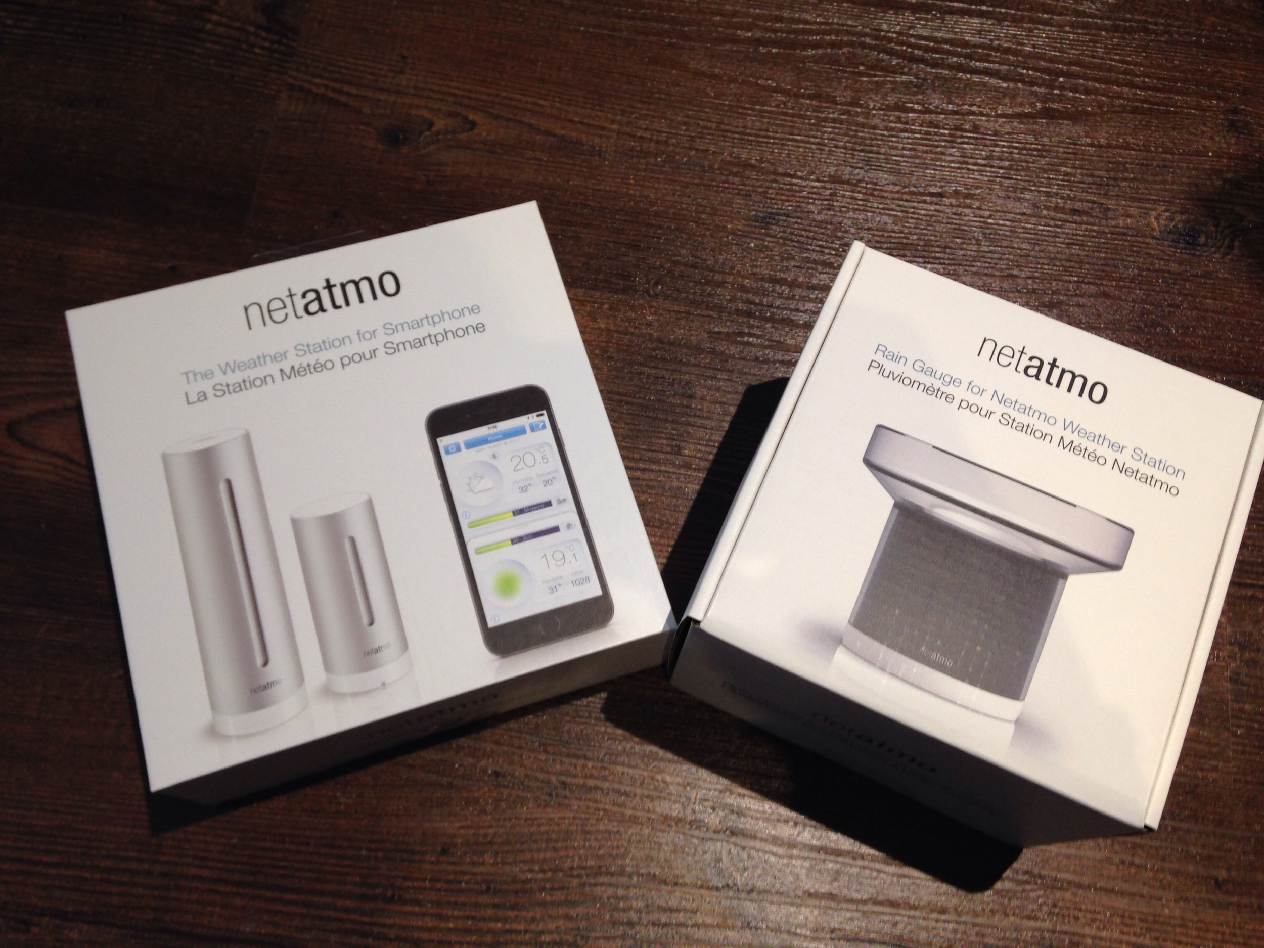 Netatmo internet connected weather station.