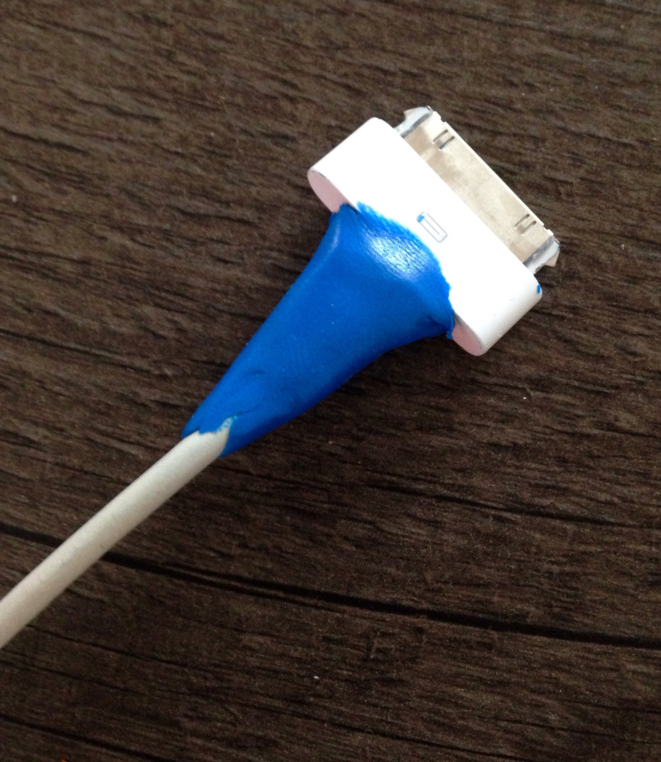 With a 2 year old about, the iPad cable needs a bit of strengthening