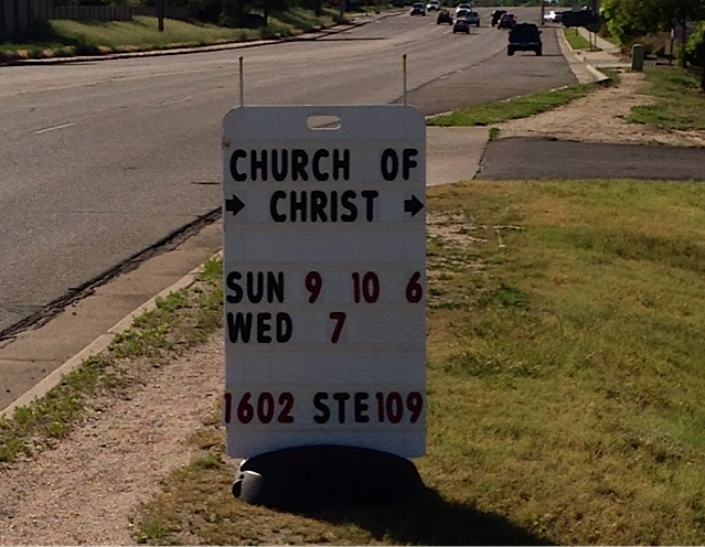 Sign on Parker Road