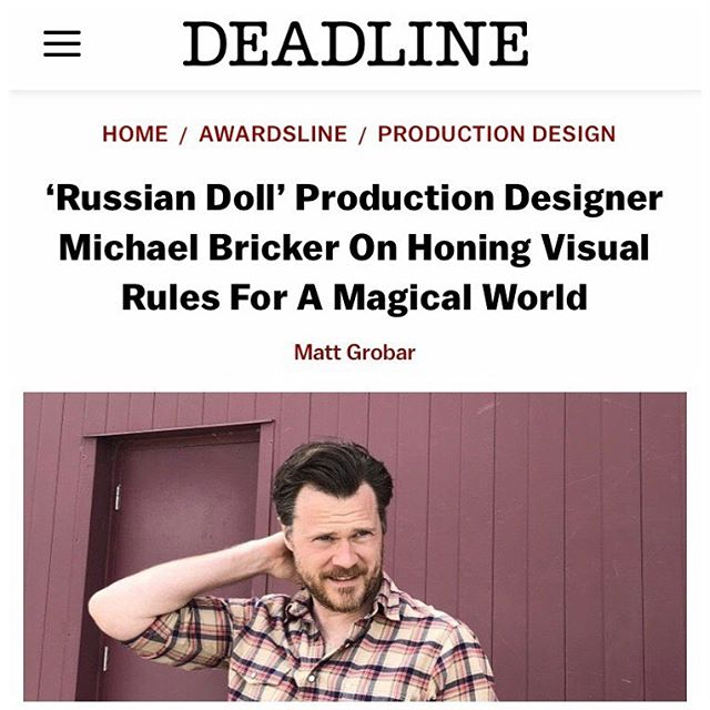 Shucks. Thanks @deadline for the press. #russiandoll #fyc @russiandollnetflix Special picture credit to @jlbrick