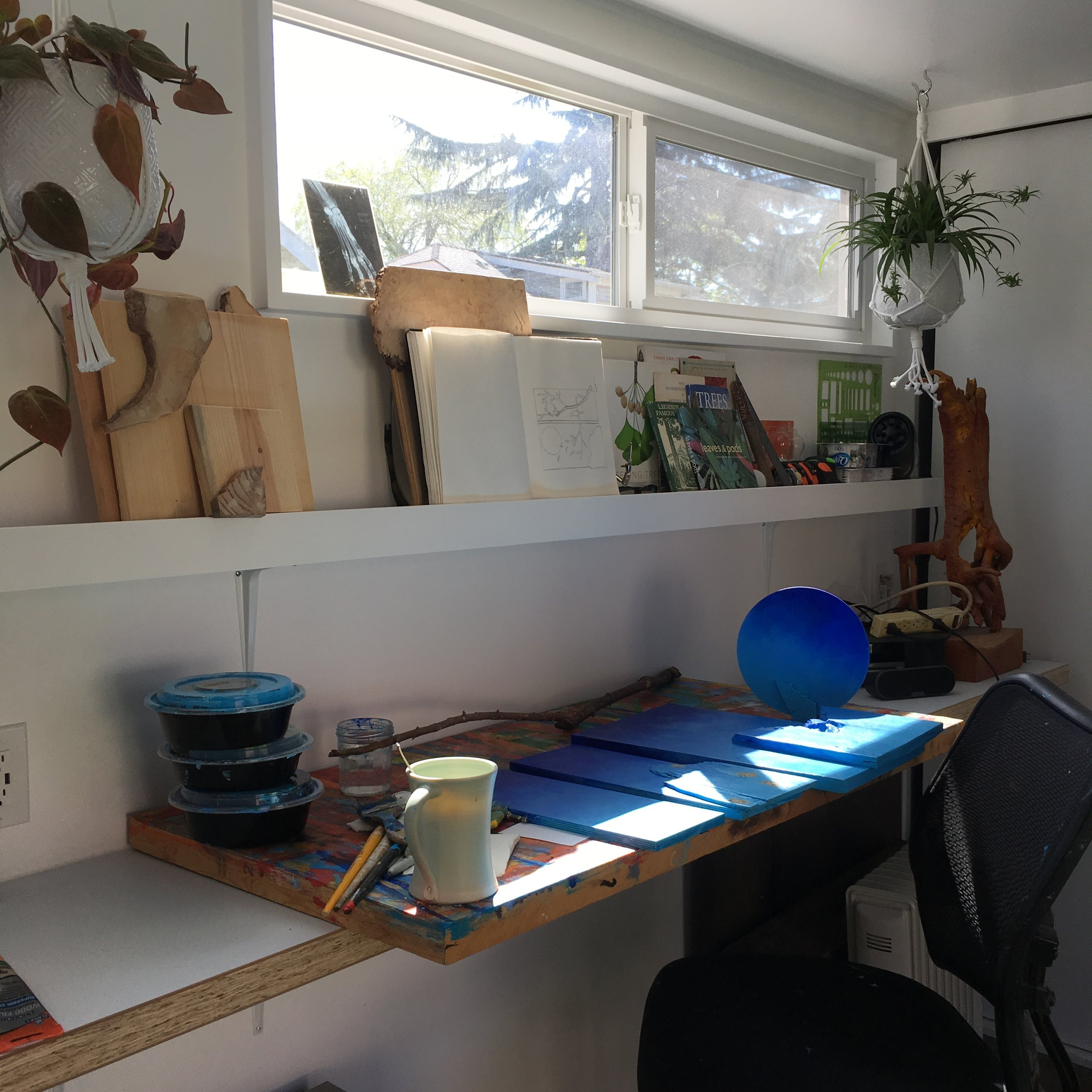 My beautiful studio, in a shipping container. A long-time dream come true with help from the amazing Daniel Goers. http://dgoers.com/