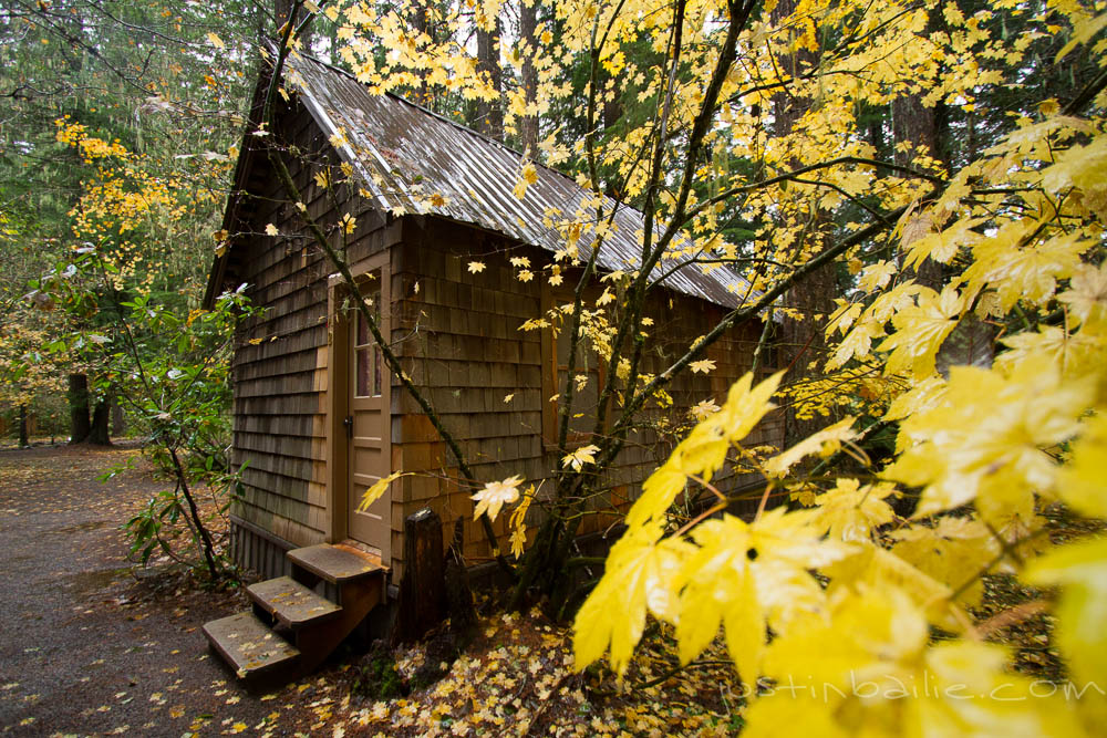 Fall color and a cozy Breitenbush cabin