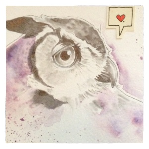 Glass Owl by Virginia Poltrack