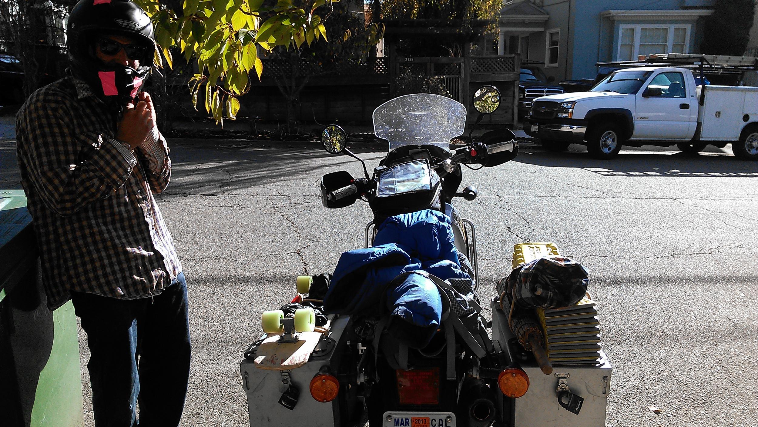 Magic Backpack on two wheels