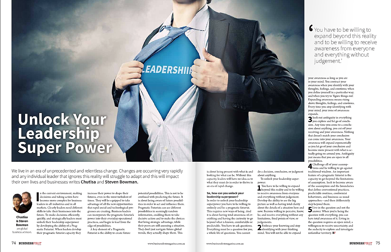 Business First Magazine page 74 - Unlock Your Leadership Super Power