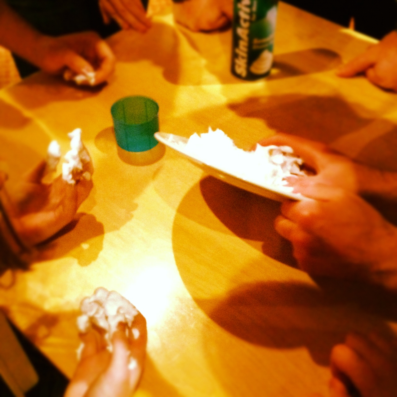 It took a lot of thought for team members to guess the objects made out of shaving foam.