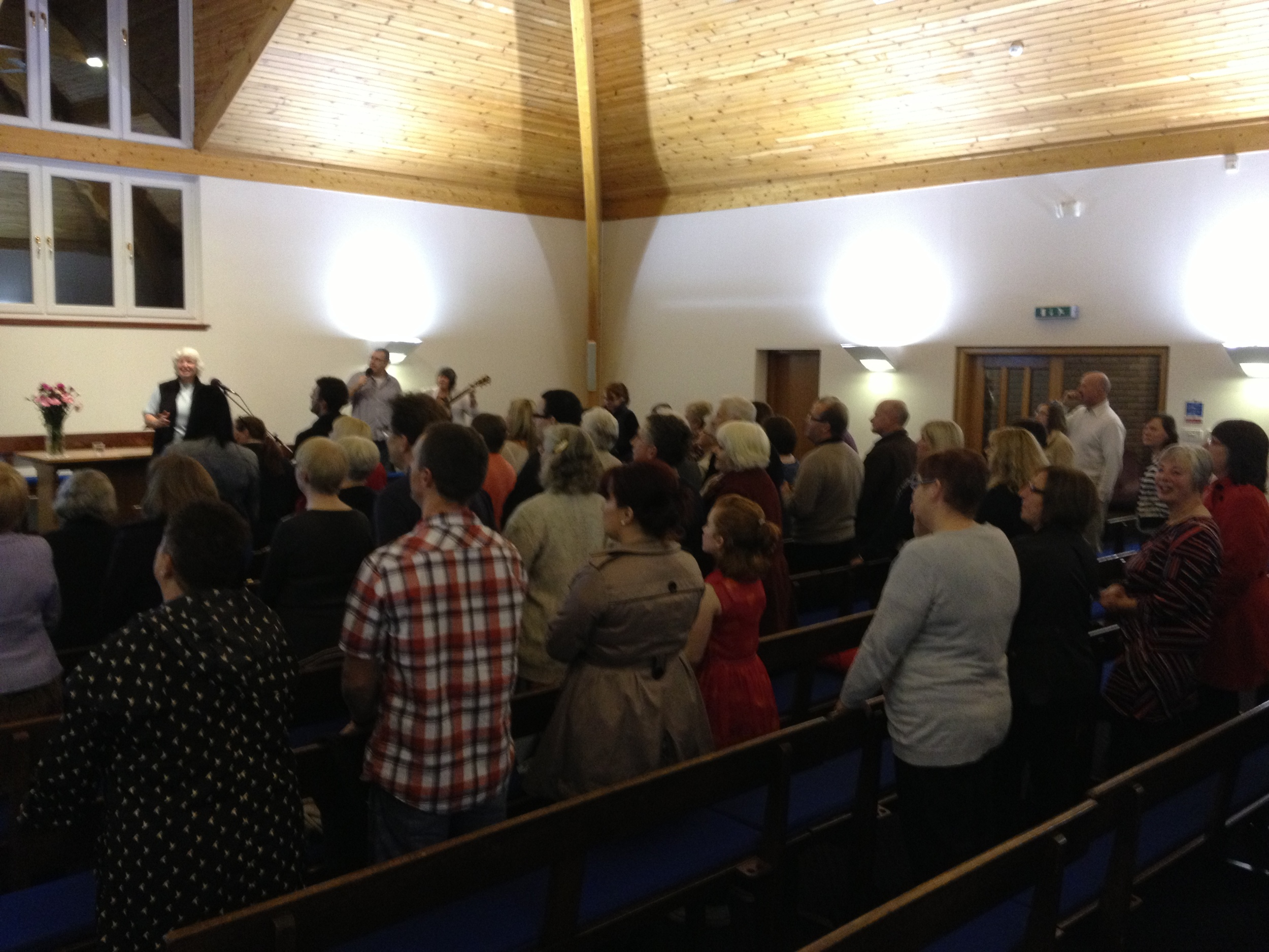 Visitors remarked on how much they enjoyed the service at the end of the evening.