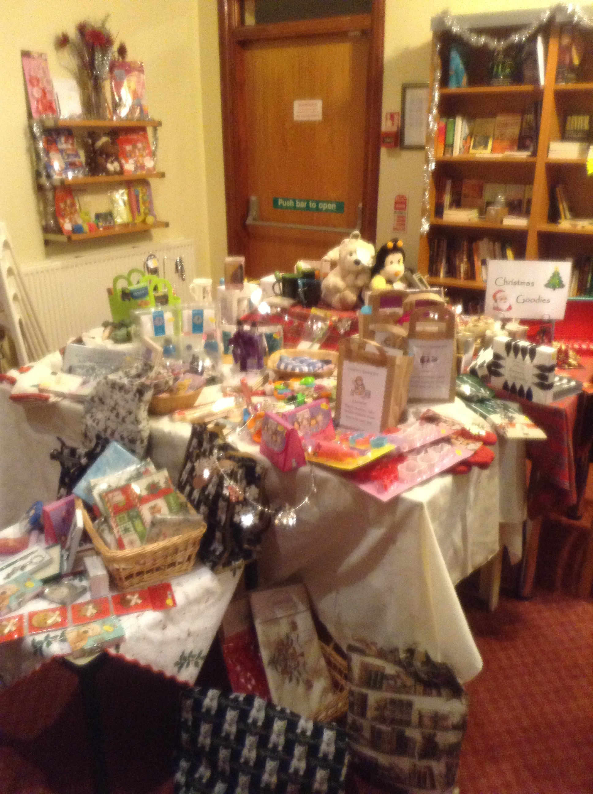 There were many gifts and crafts on offer.