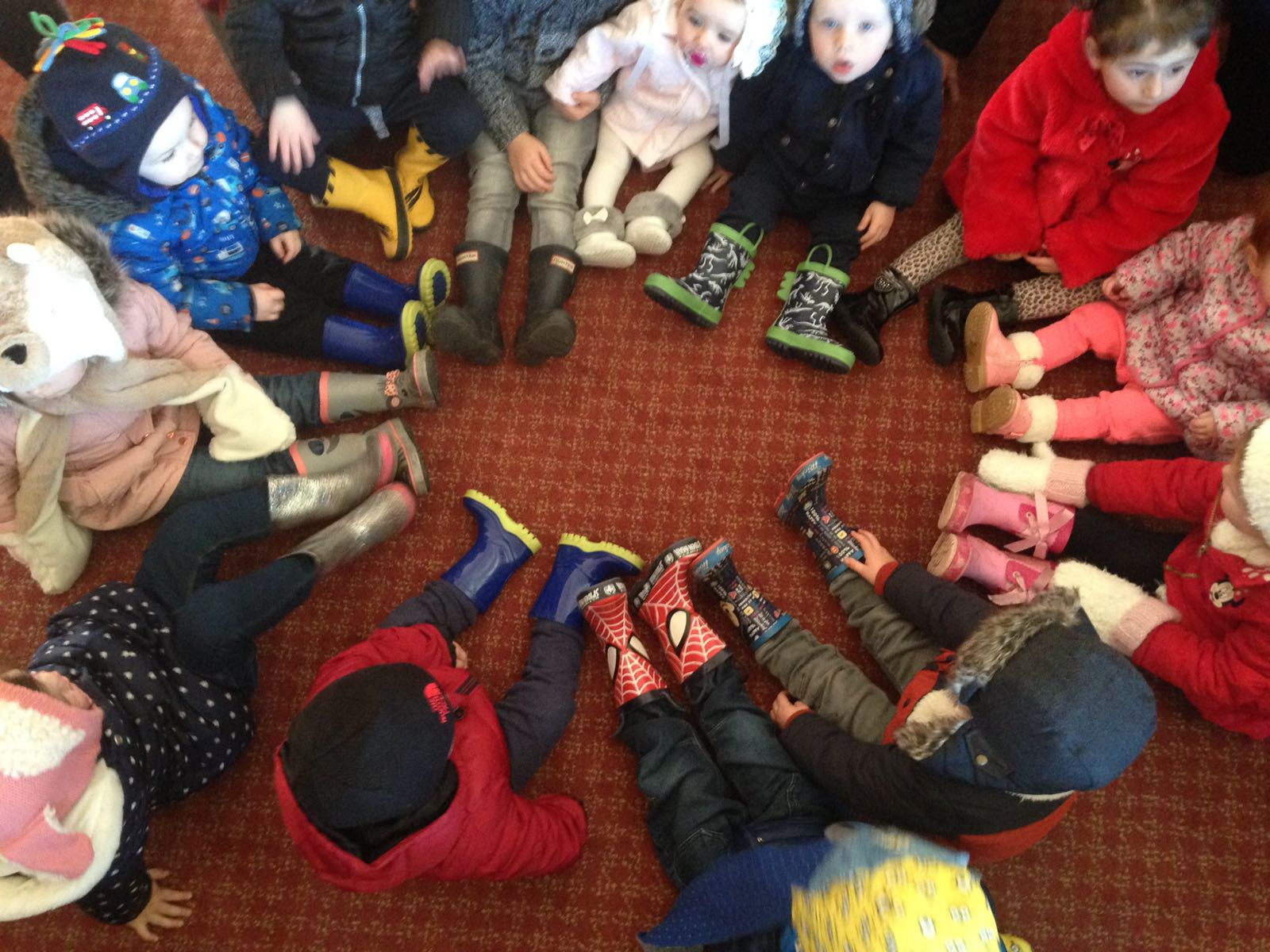 Getting ready for our Wellie Walk