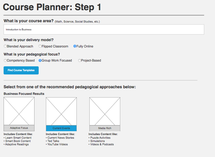 New Product Design: Designing a new AI driven course management product for instructors