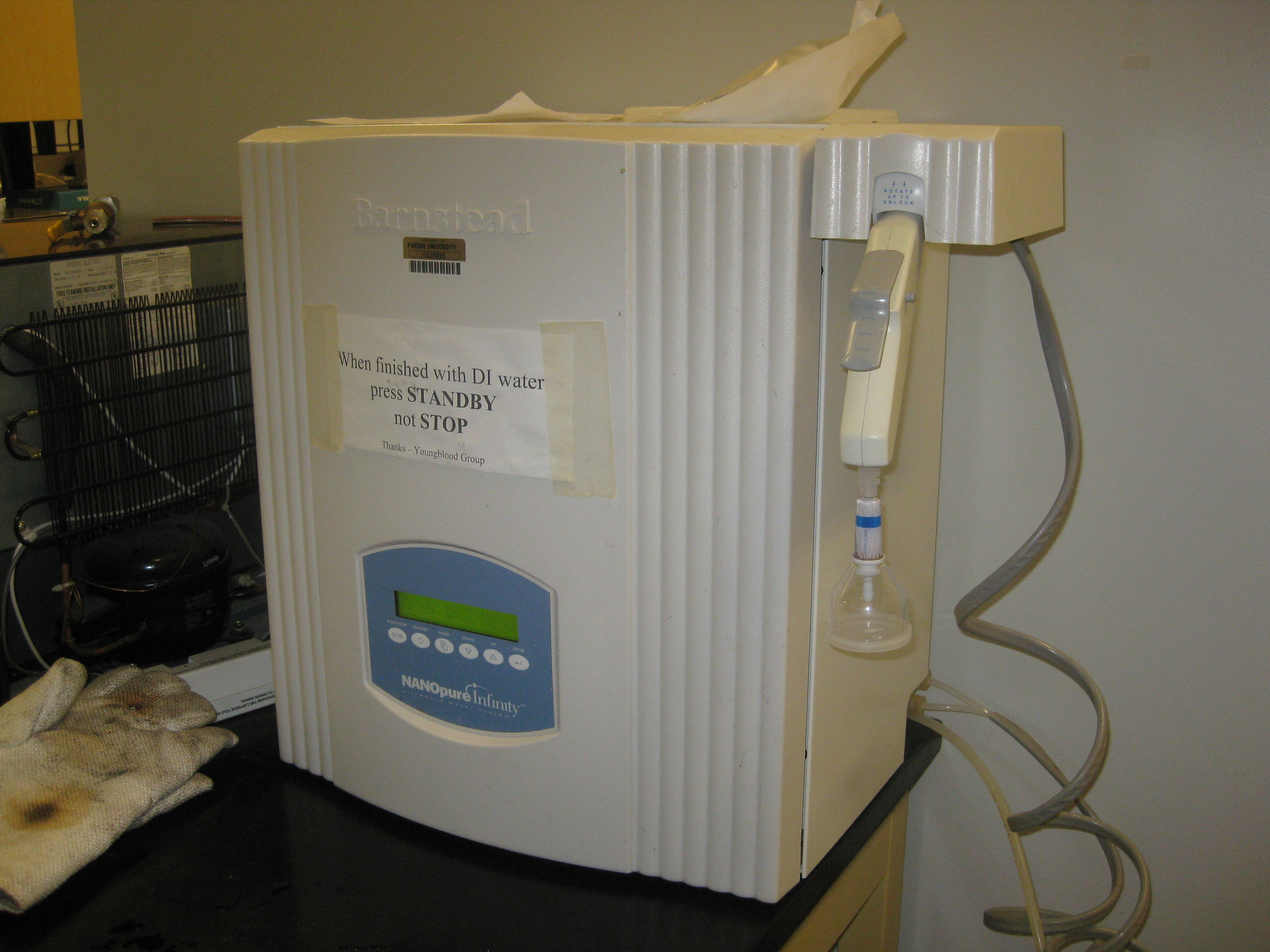 Barnstead nanopure water system
