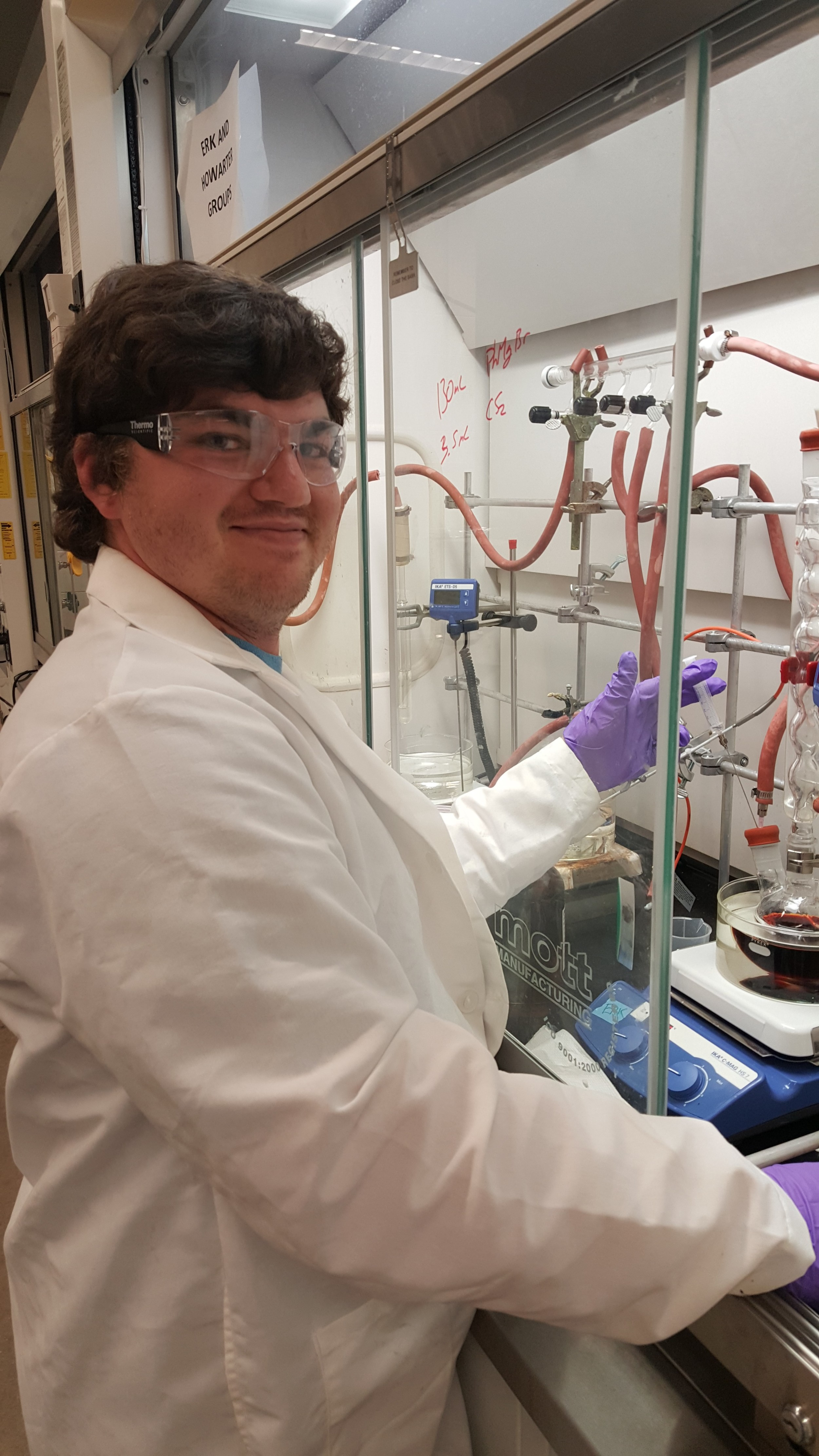 Travis doing some RAFT polymerization.