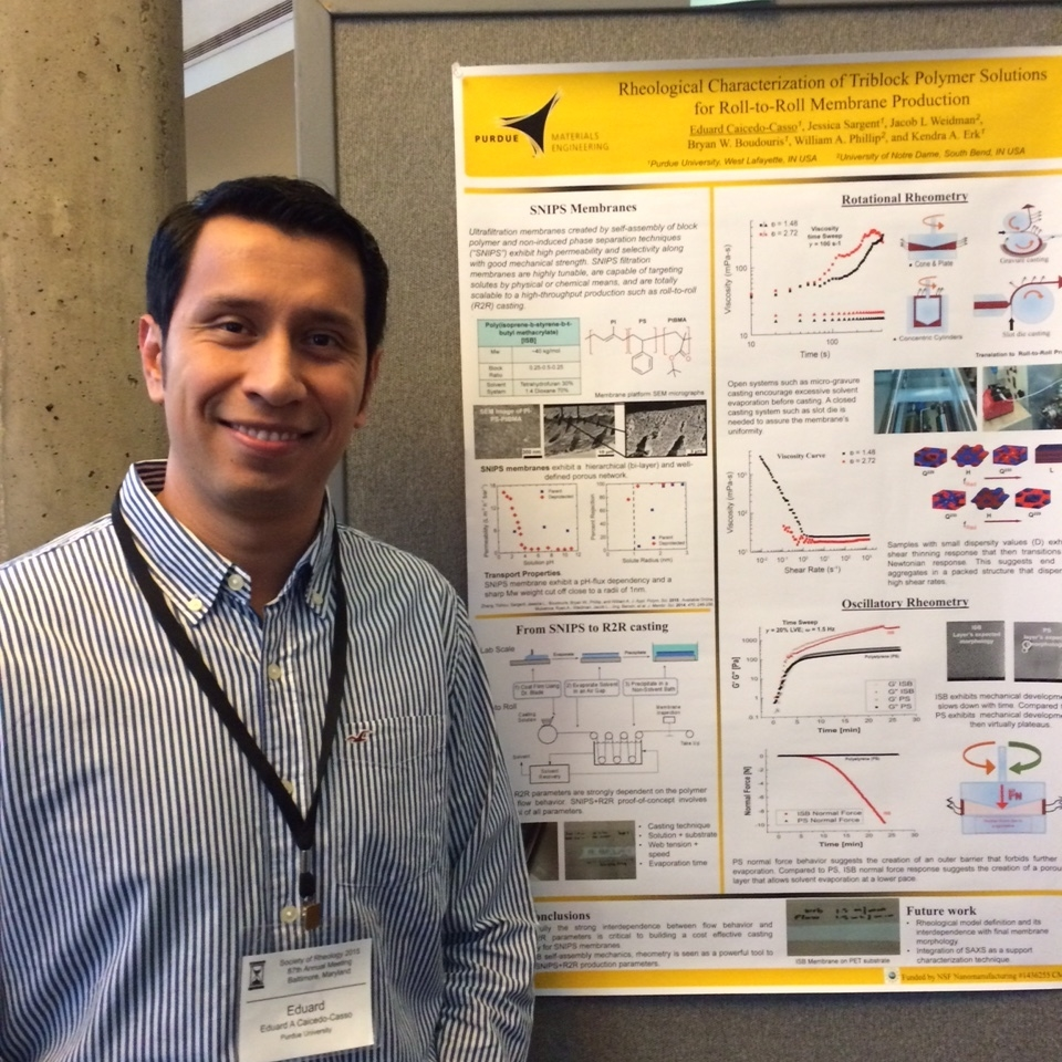 Eduard presenting at the 2015 Society of Rheology meeting in Baltimore.