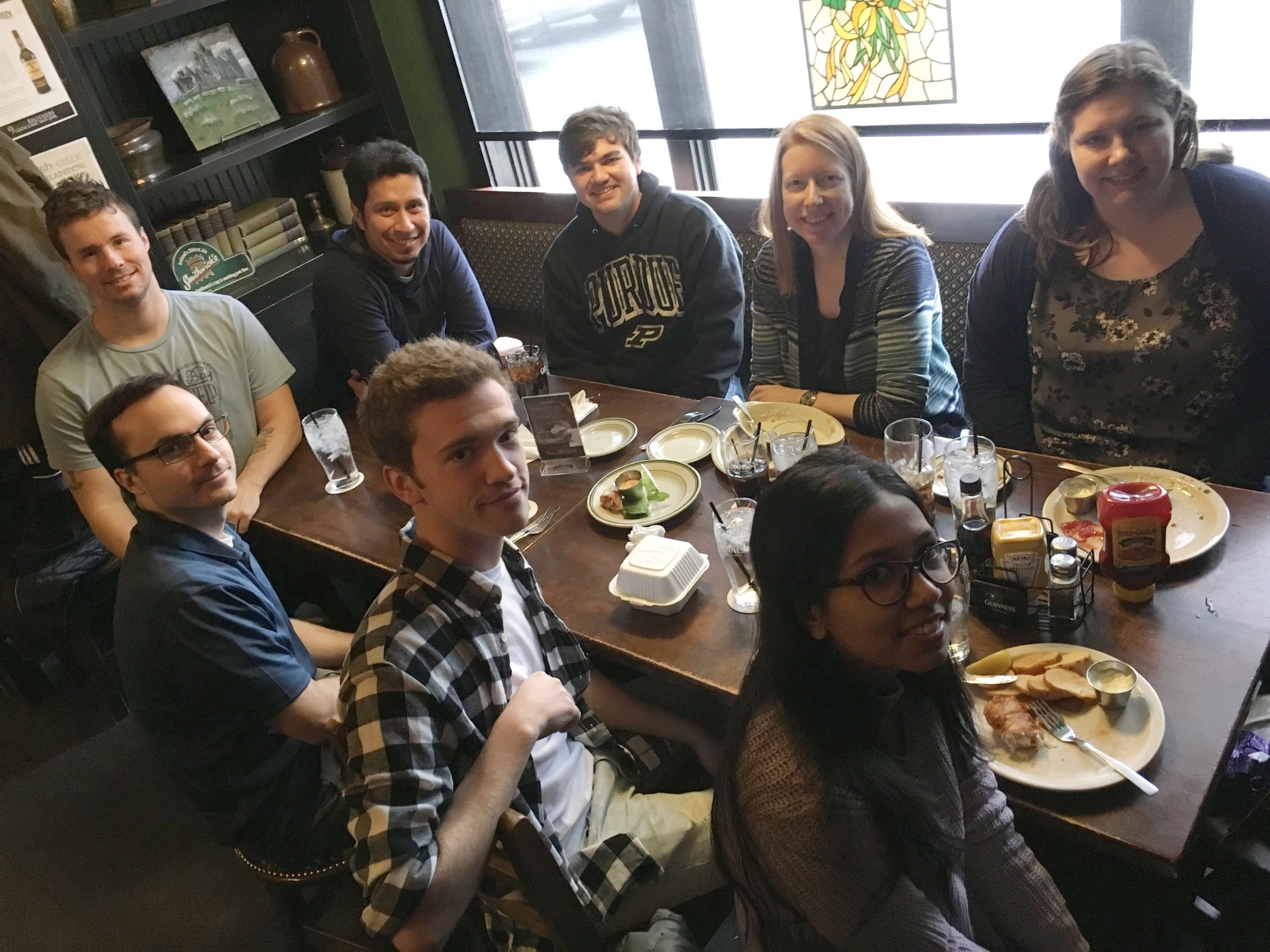 Group lunch, December 2017