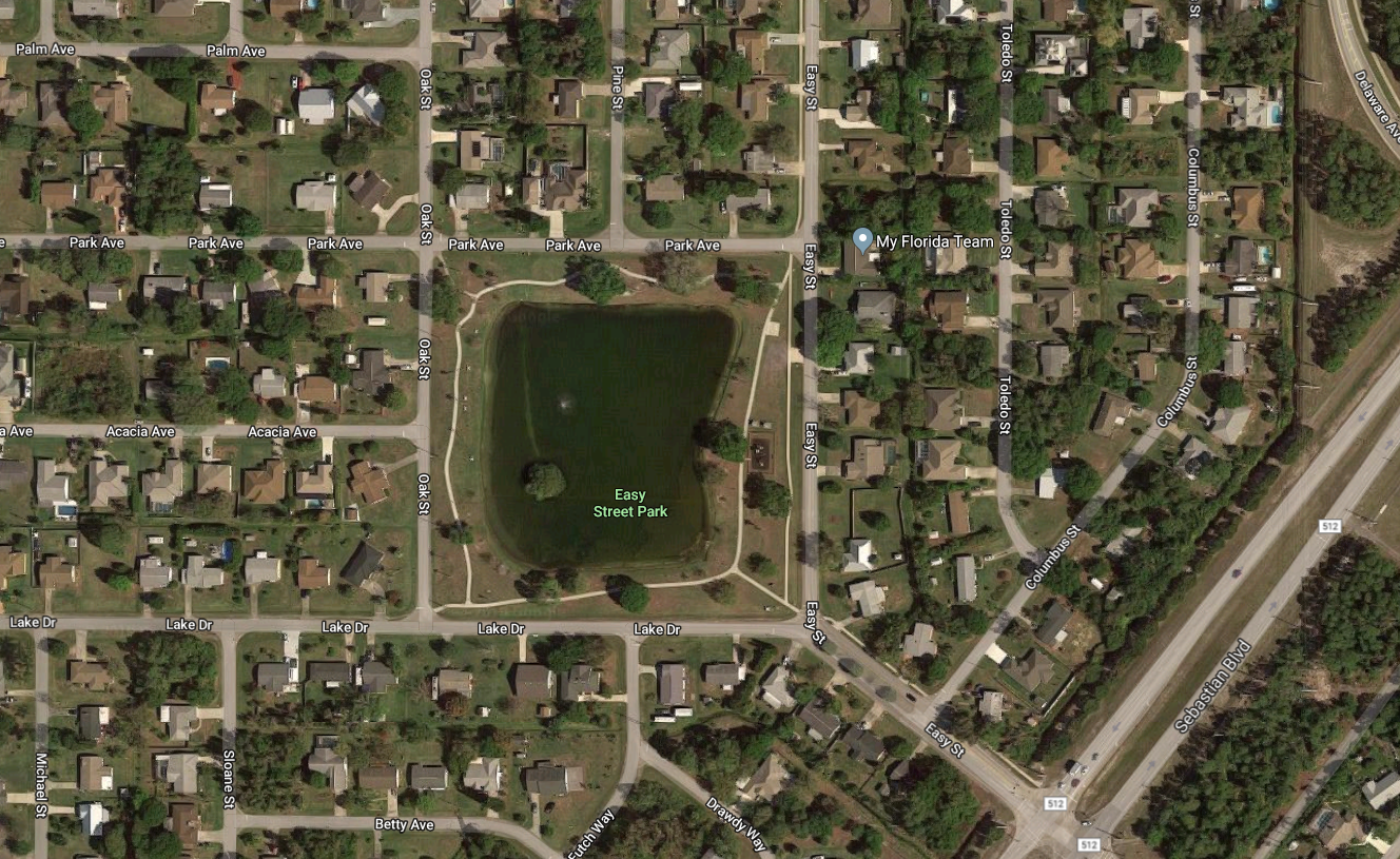 You can see how developed it is around this park with a single small lake in the center.
