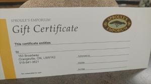 Sproule's Emporium GIft Certificate.JPG