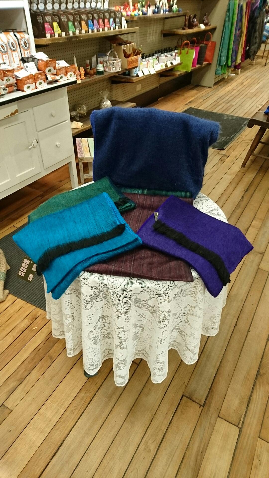Sproule's Emporium Alpaca Scarves Blanket.JPG