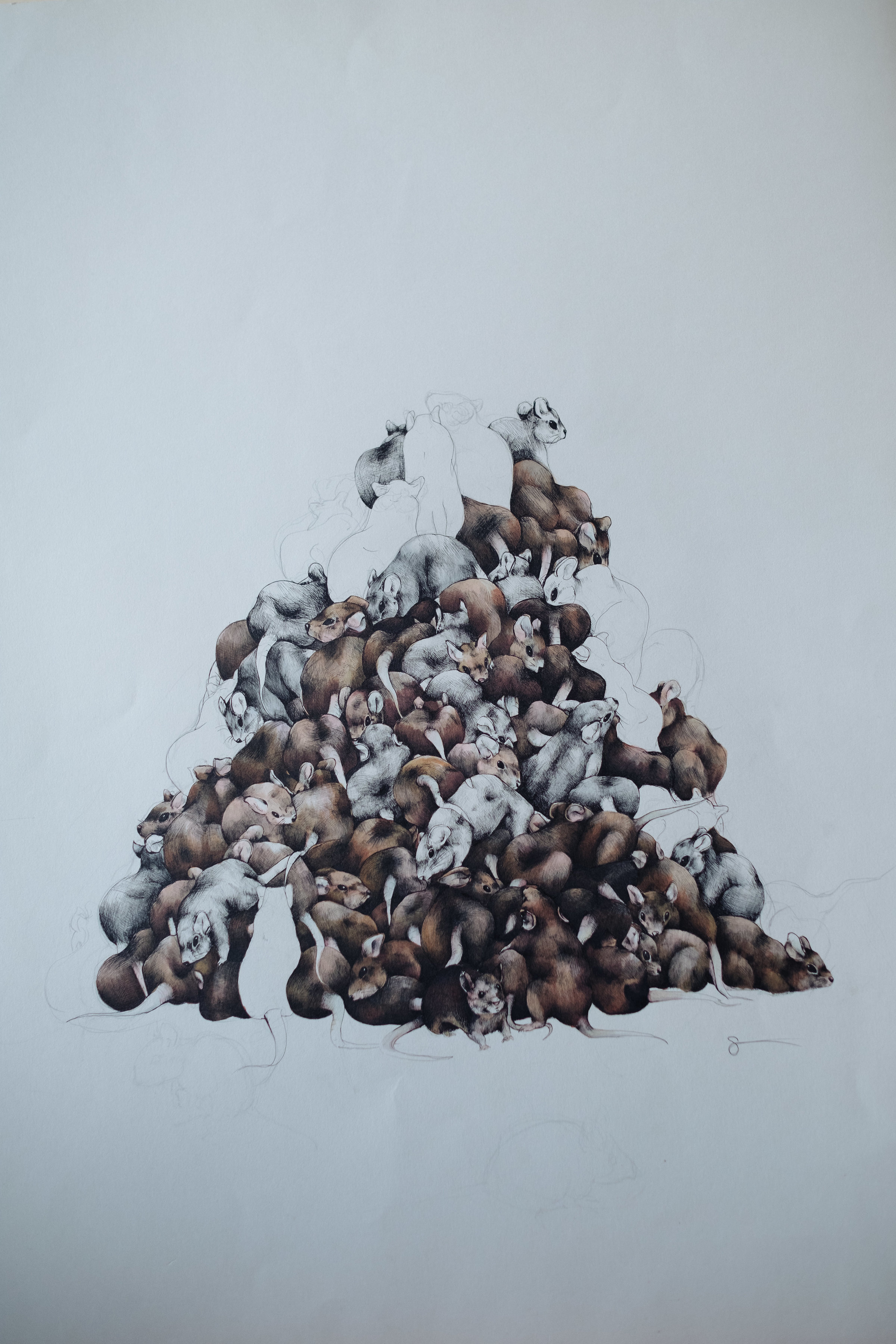 A Pile of Mice - detail