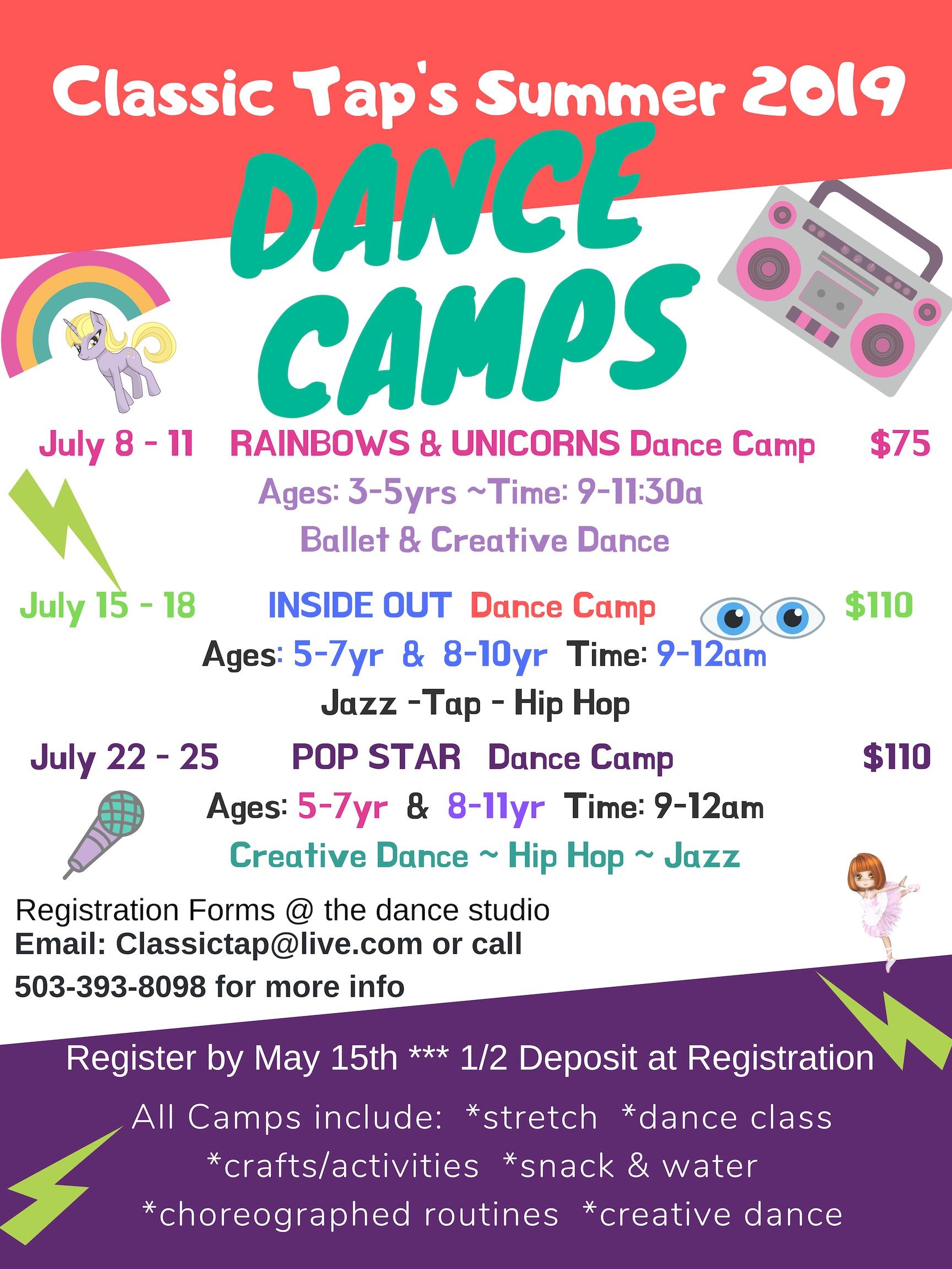 2019 Dance Camps