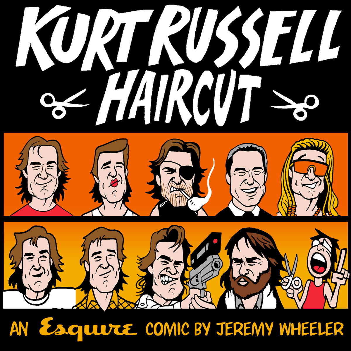 KURT RUSSELL HAIRCUT   Wrote and illustrated this comic.