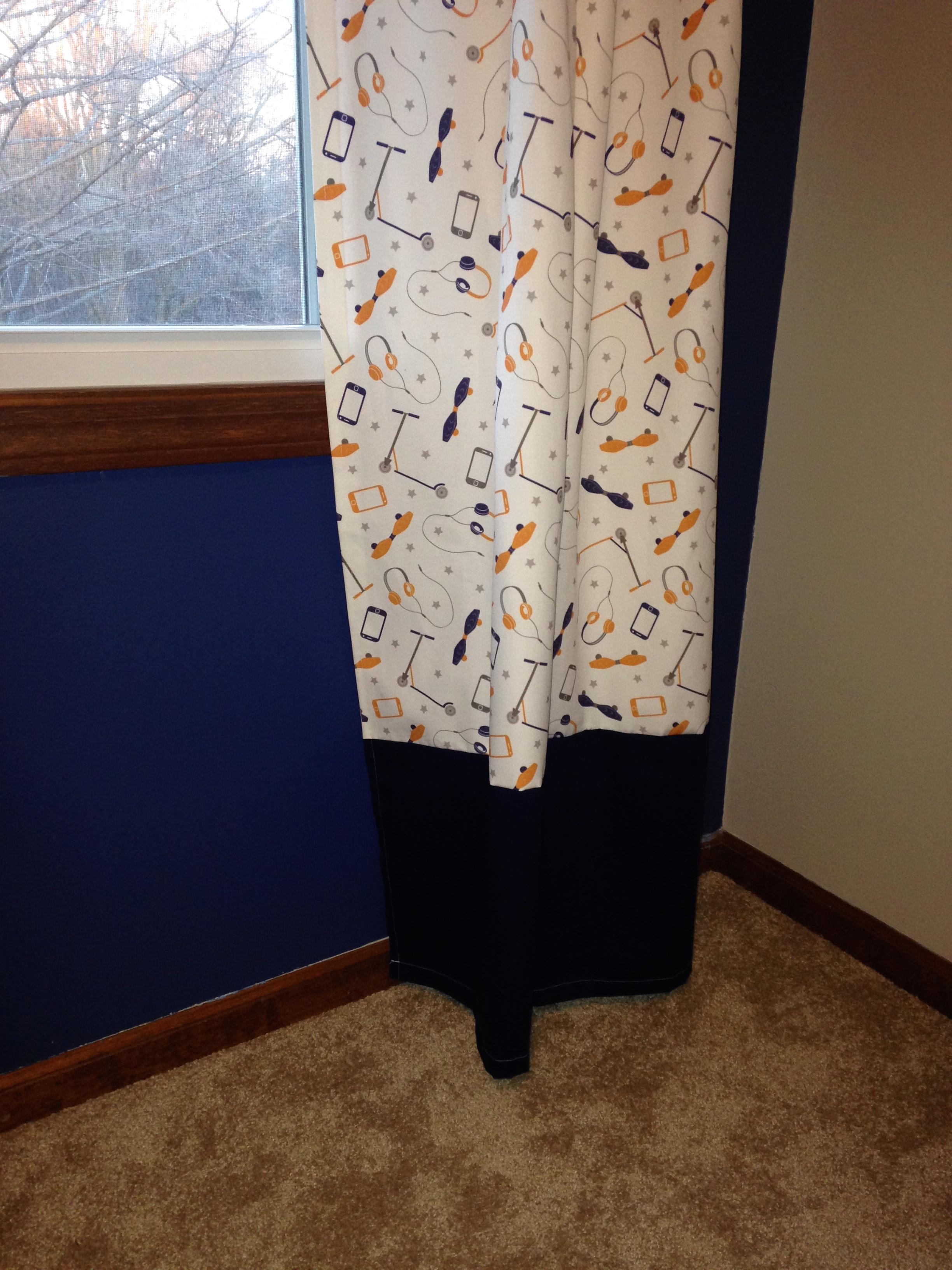 bottom drape detail