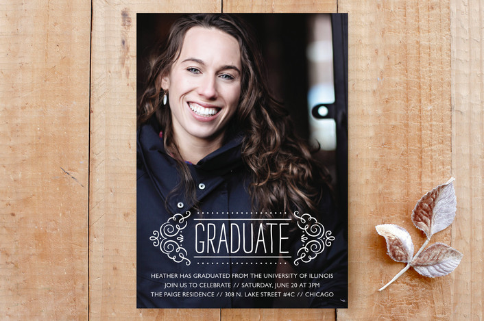 Fancy Grad  Graduation Invitation or Announcement