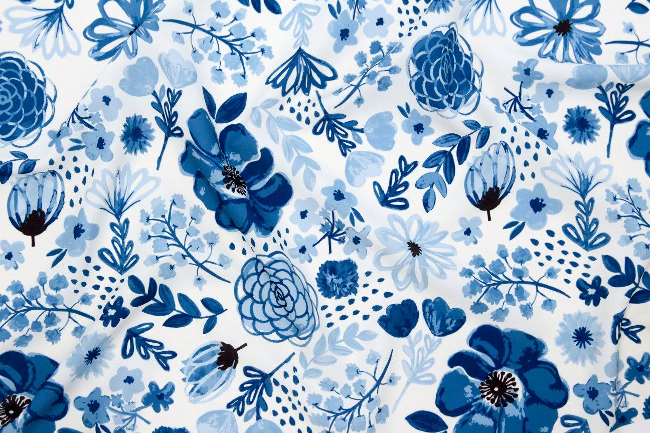 Garden of Blue fabric