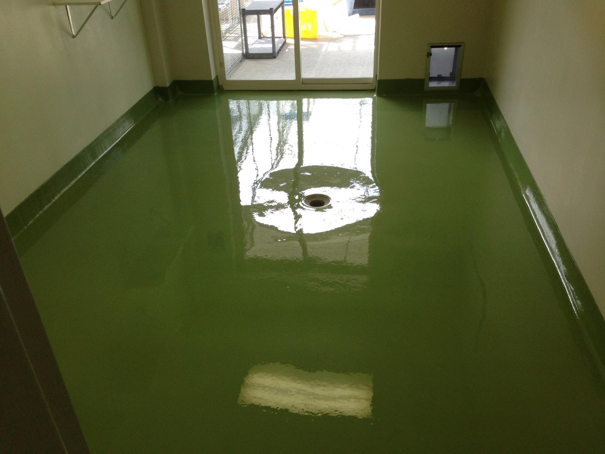 Resinous Flooring Installed at Animal