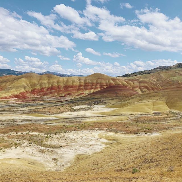 The Painted Hills in OR. Worth a day trip.