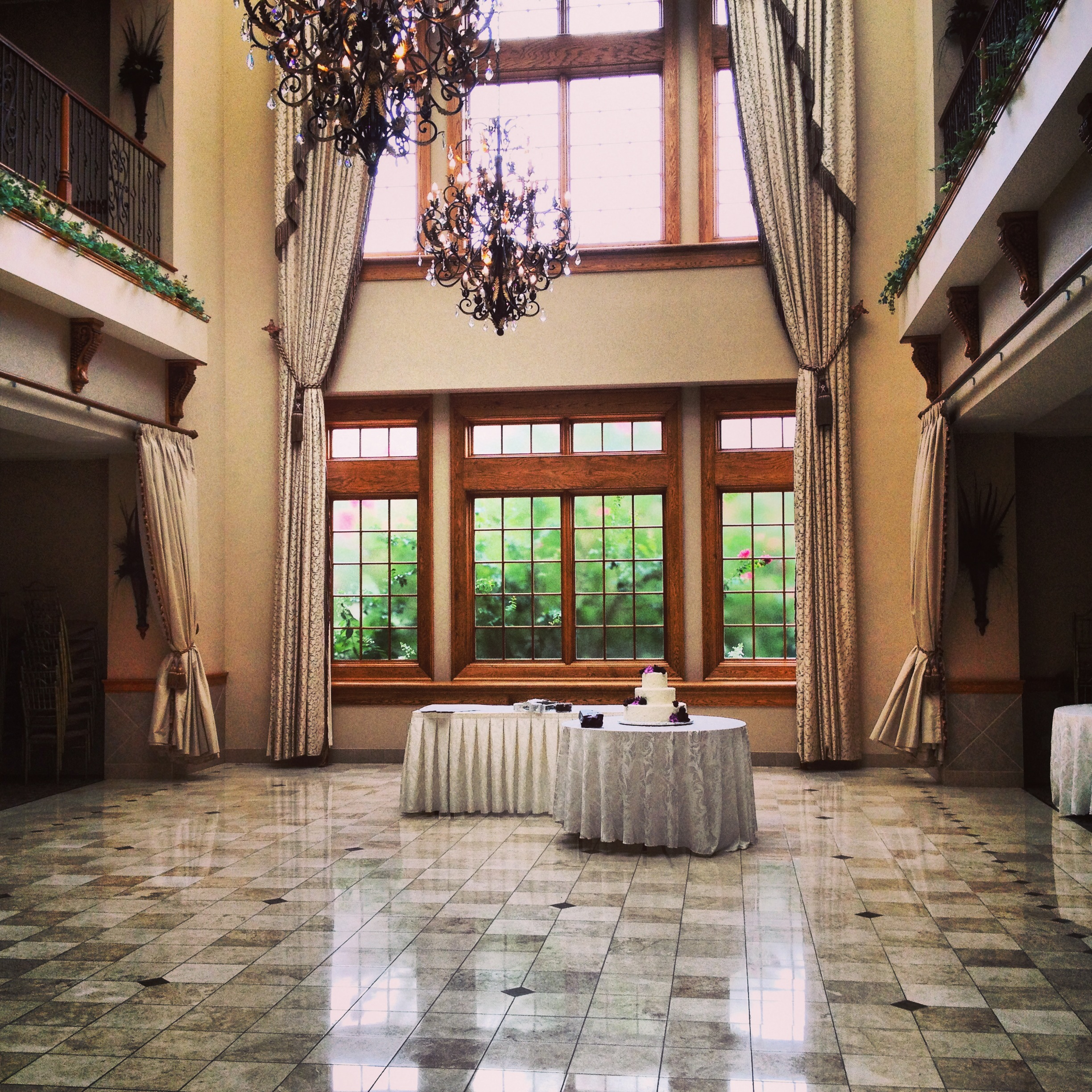The two-story ballroom at  Talamore Country Club  in Ambler, PA