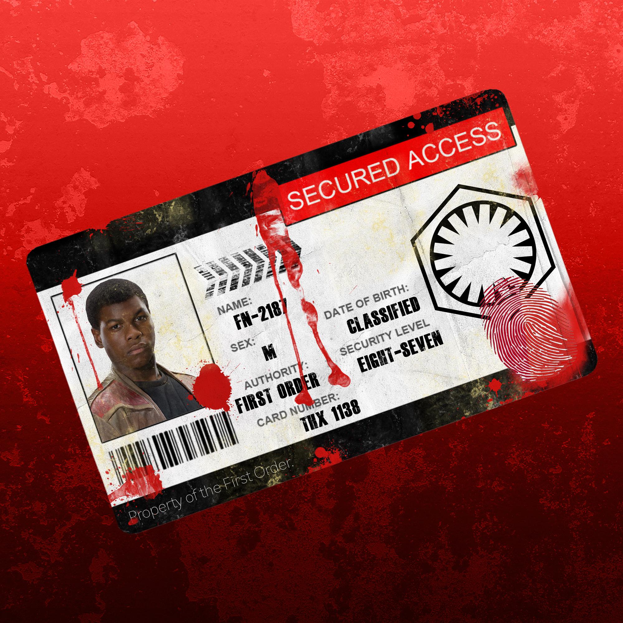 Star Wars ID Card - Created by Rek Dunn