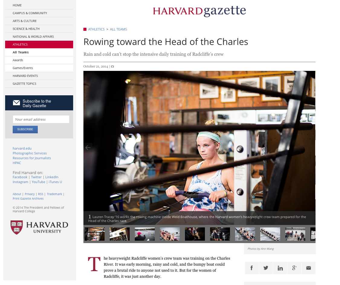 Check out the gallery at :  http://news.harvard.edu/gazette/story/2014/10/rowing-toward-the-head-of-the-charles/