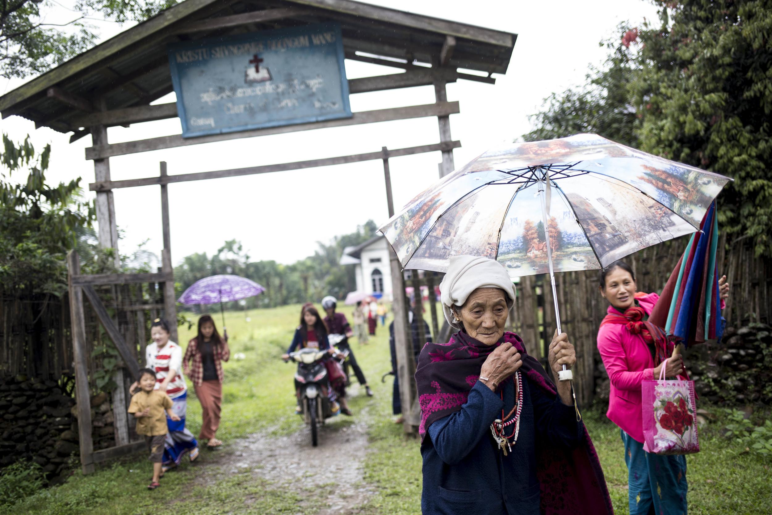 Majority of the Rawangs are christian. Photo by Ann Wang