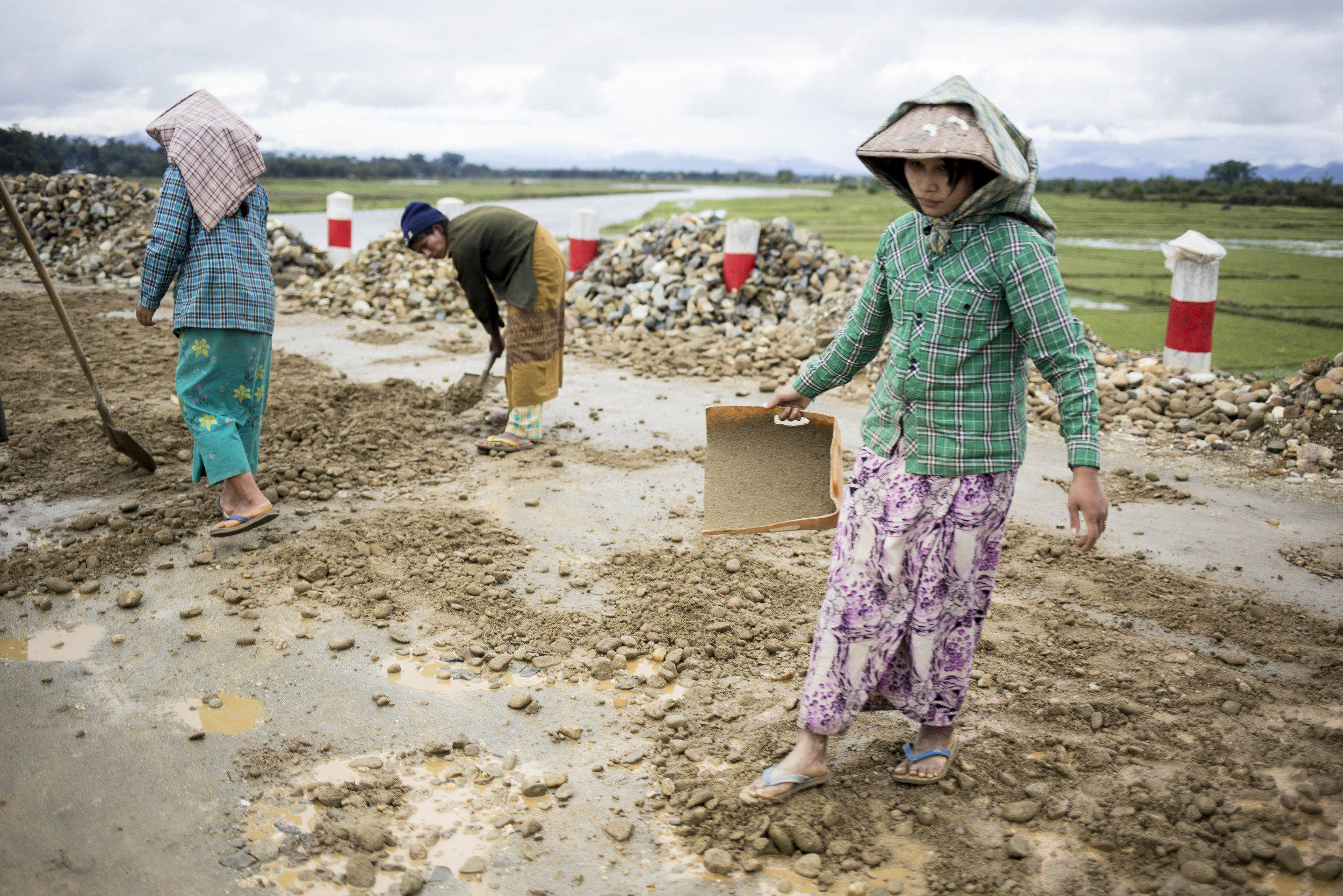 The main roads in Putao is built in the past two years, but majroity of the roads is still mud. photo by Ann Wang