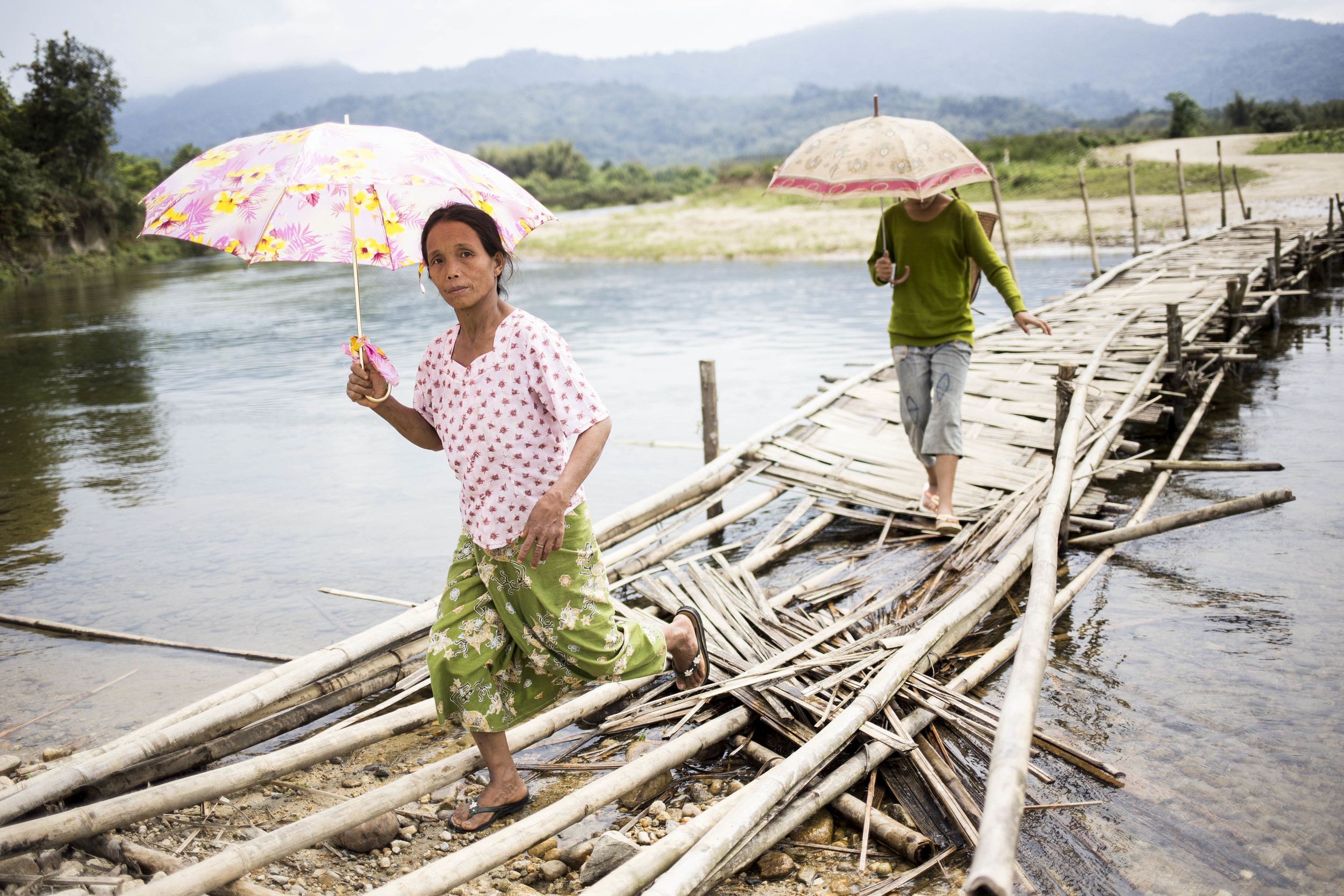 Majority of the villages is disconnected to the township by rivers. Some have bridges, but are oftern falling apart. Photo by Ann Wang