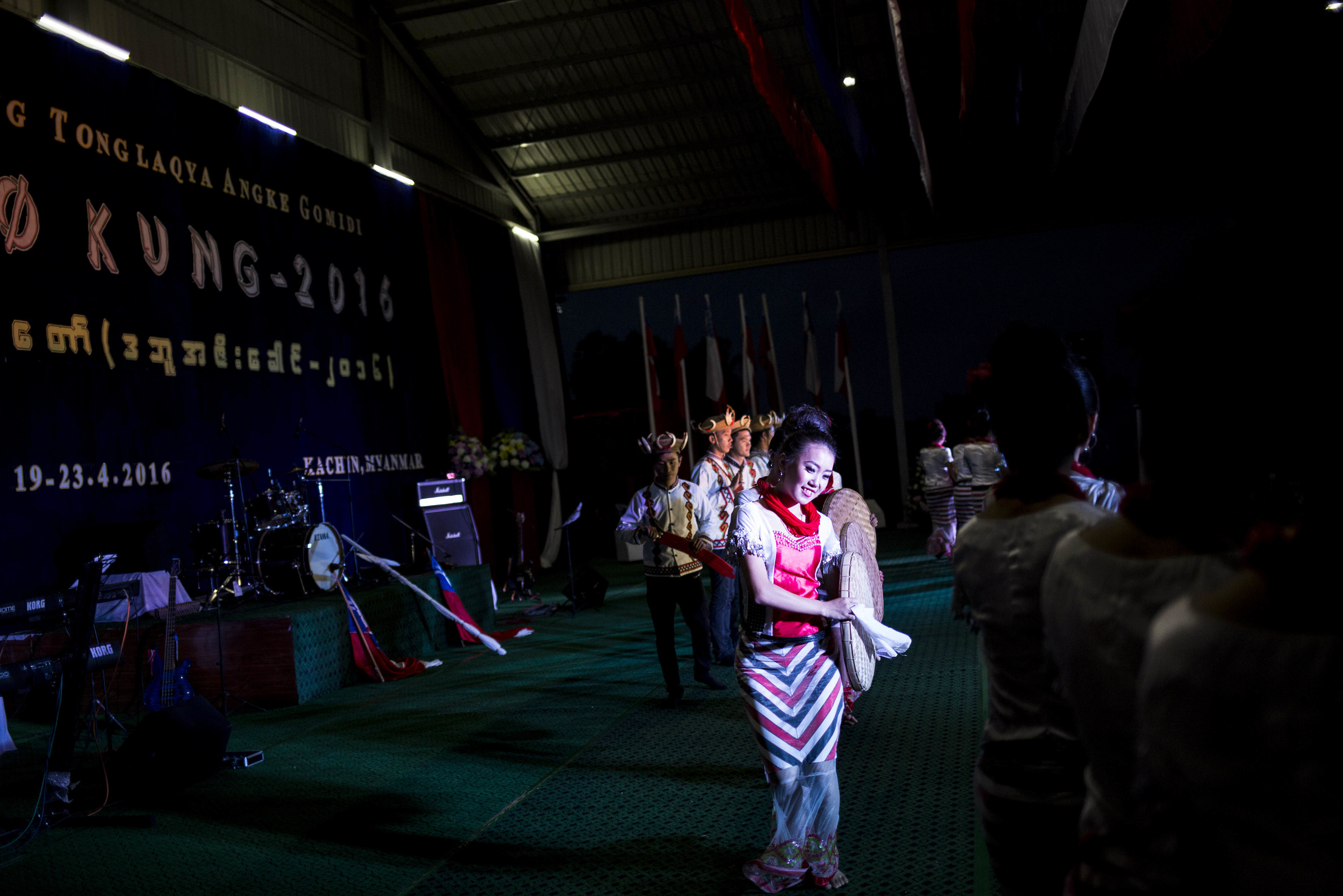 Dance competitions organized by the Rawang youth groups from Yangon, Mandalay, Putao and several other cities. Photo by Ann Wang