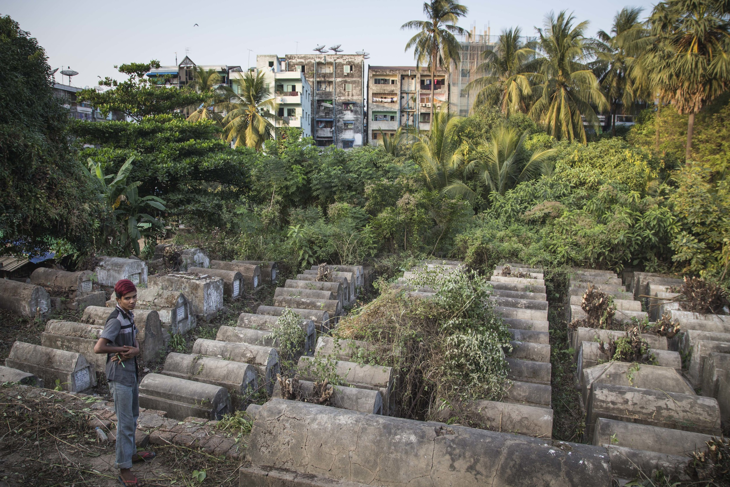 A hundred year old Jewish cemetery in Yangon, Myanmar. Photo by Ann Wang