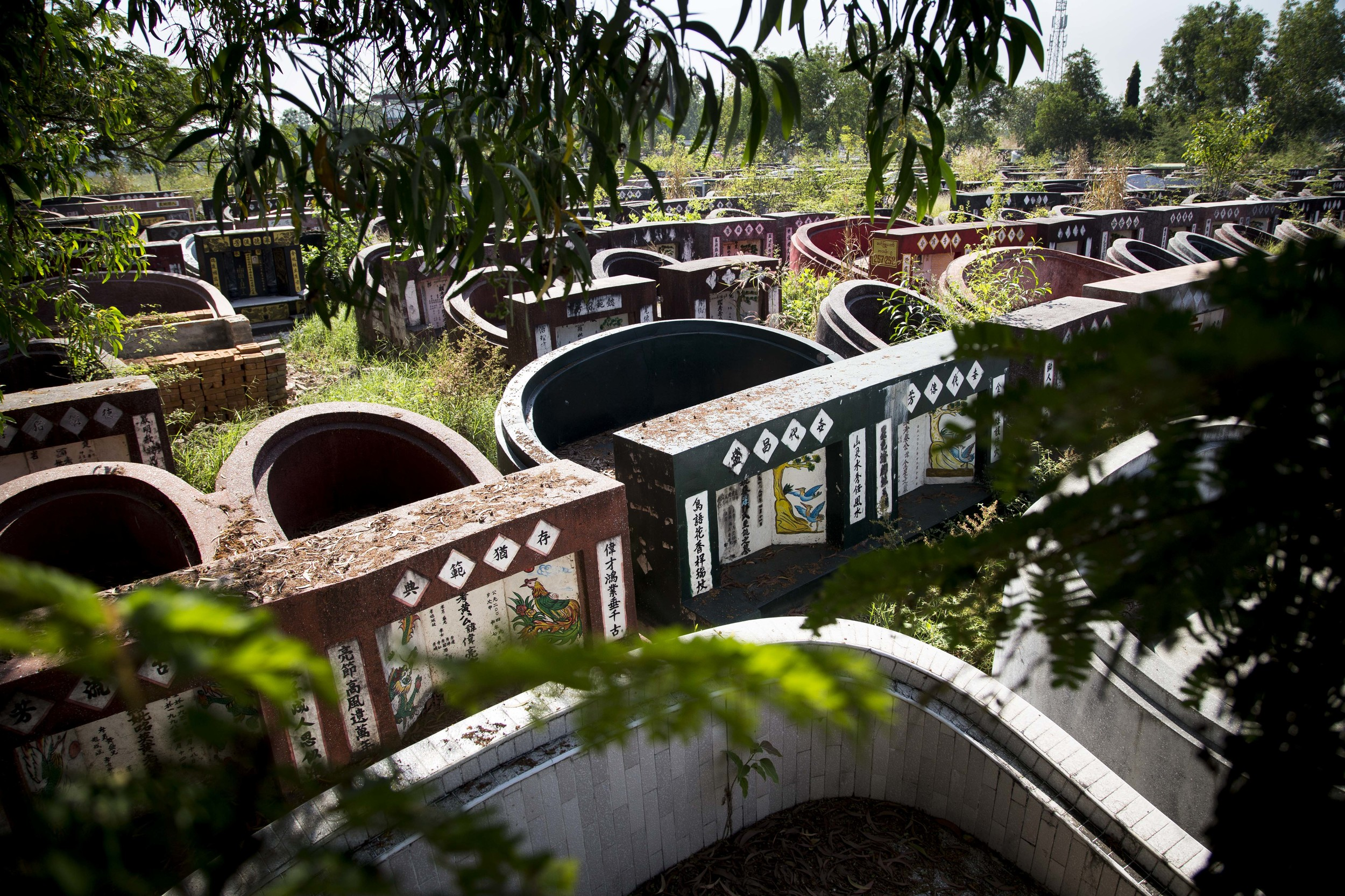 A chinese cemetery at Yayway cemetery in the outskirct of Yangon, Myanmar. Photo by Ann Wang