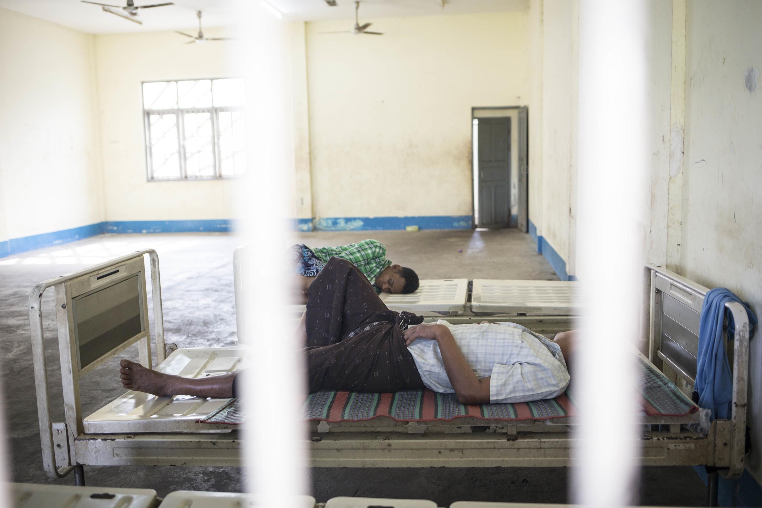 The alcoholic until at Yangon mental hospital. Photo by Ann Wang