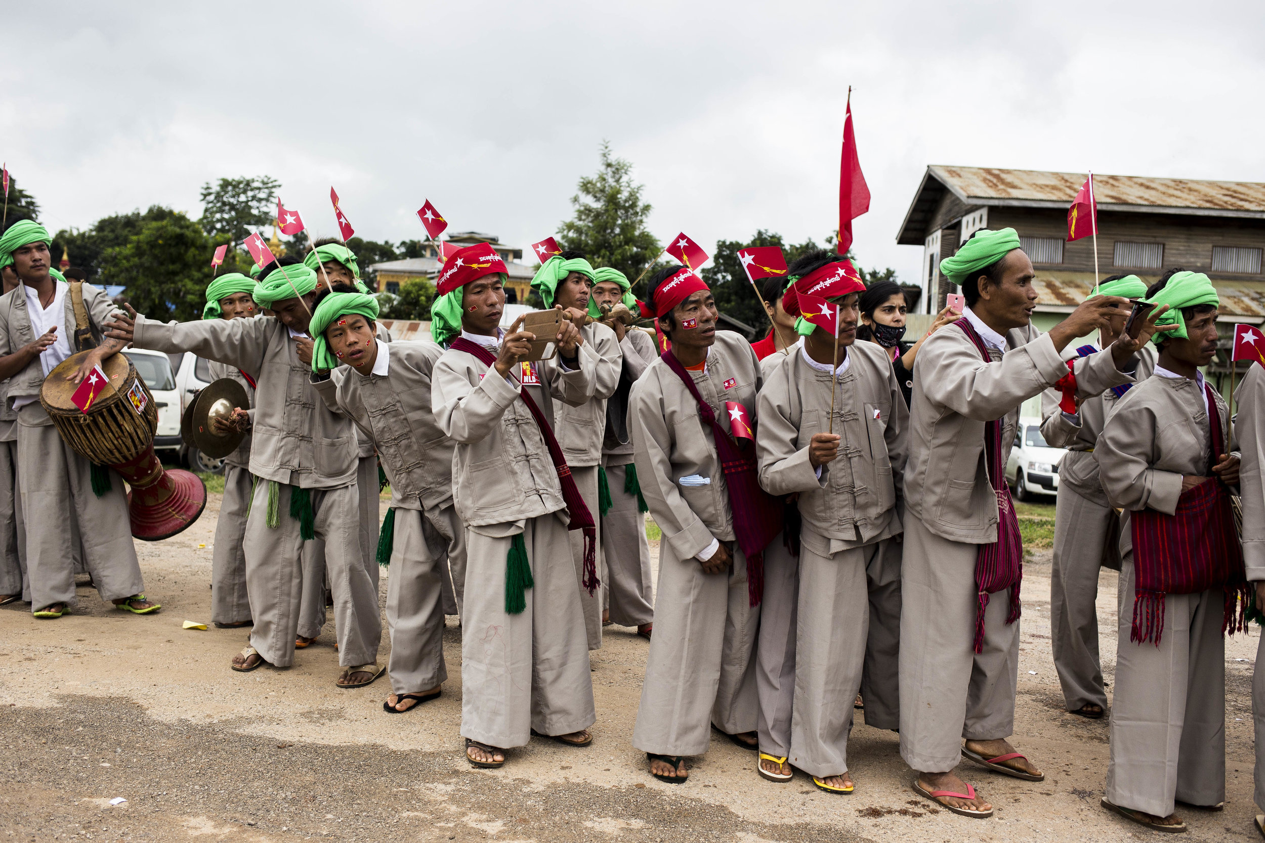 NLD leader Daw Aung Shan Suu Kyi visiting Hopong township in Shan State on September 6, 2015.Photo by Ann Wang
