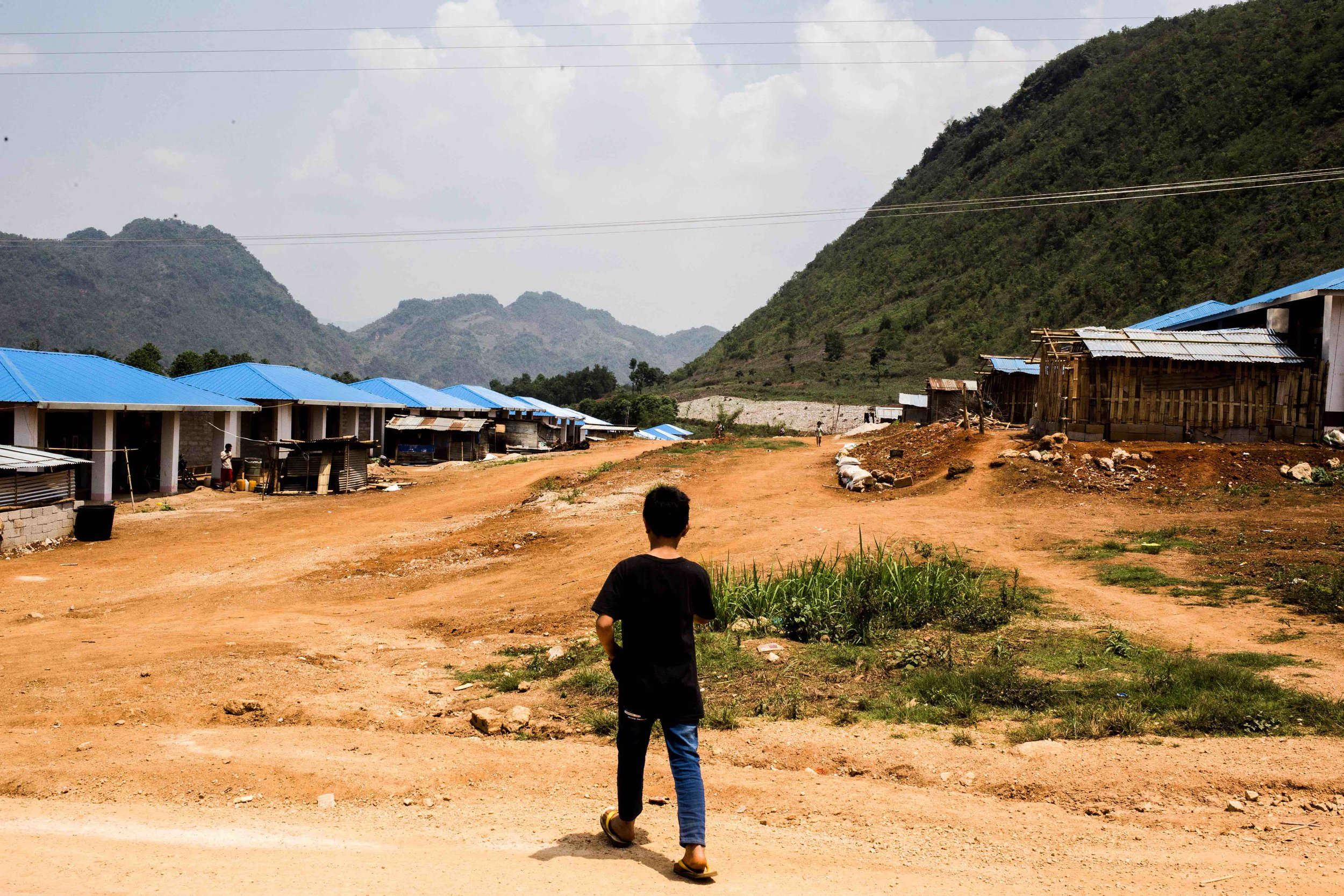 Newly built community housing for refugees coming back from China that was displaced from Feb 2015 conflict. Photo by Ann wang