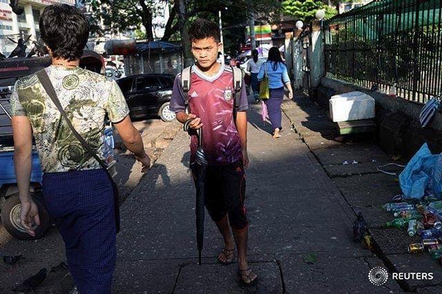 Yangon streets.