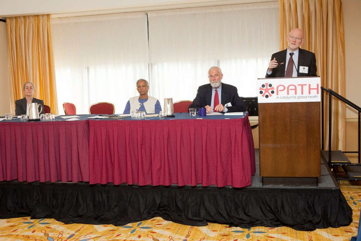 Press Conference with Christopher Elias (PATH), Muhammad Yunus (Grameen) and Bill Foege (Hilton Prize Juror)