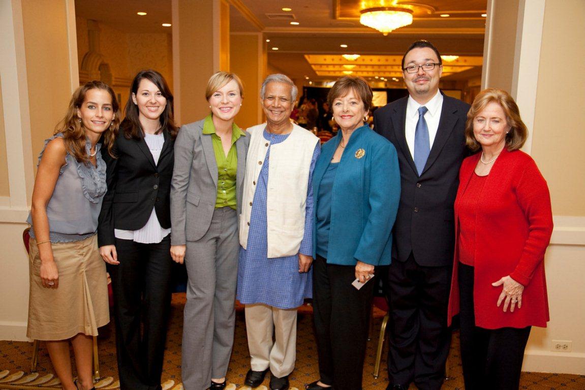The Hilton Prize team with Muhammad Yunus 2009