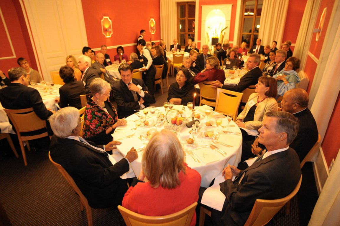 Private Dinner, Hilton Prize, Le Vieux Bois, Geneva, Switzerland