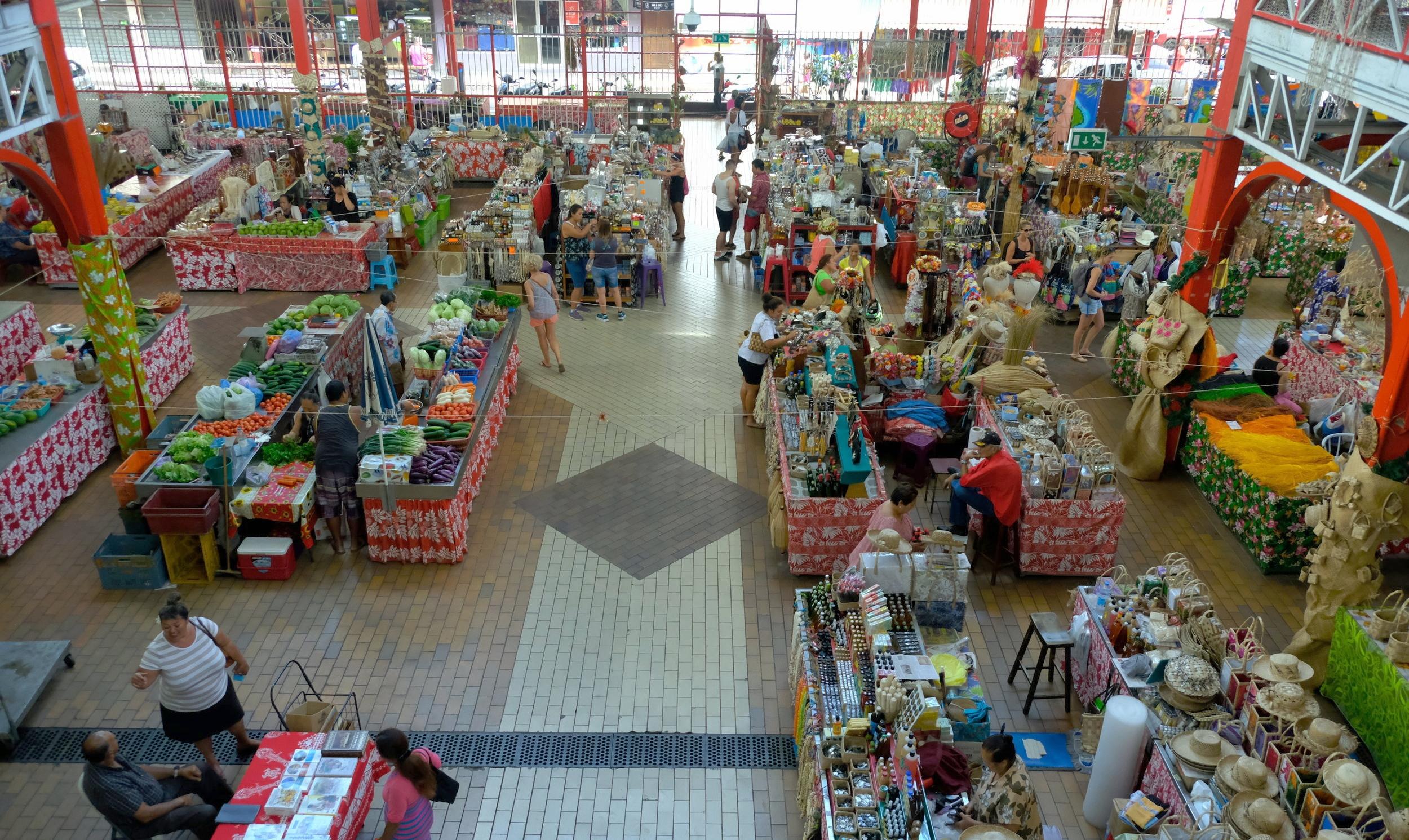 Papeete market in Tahiti