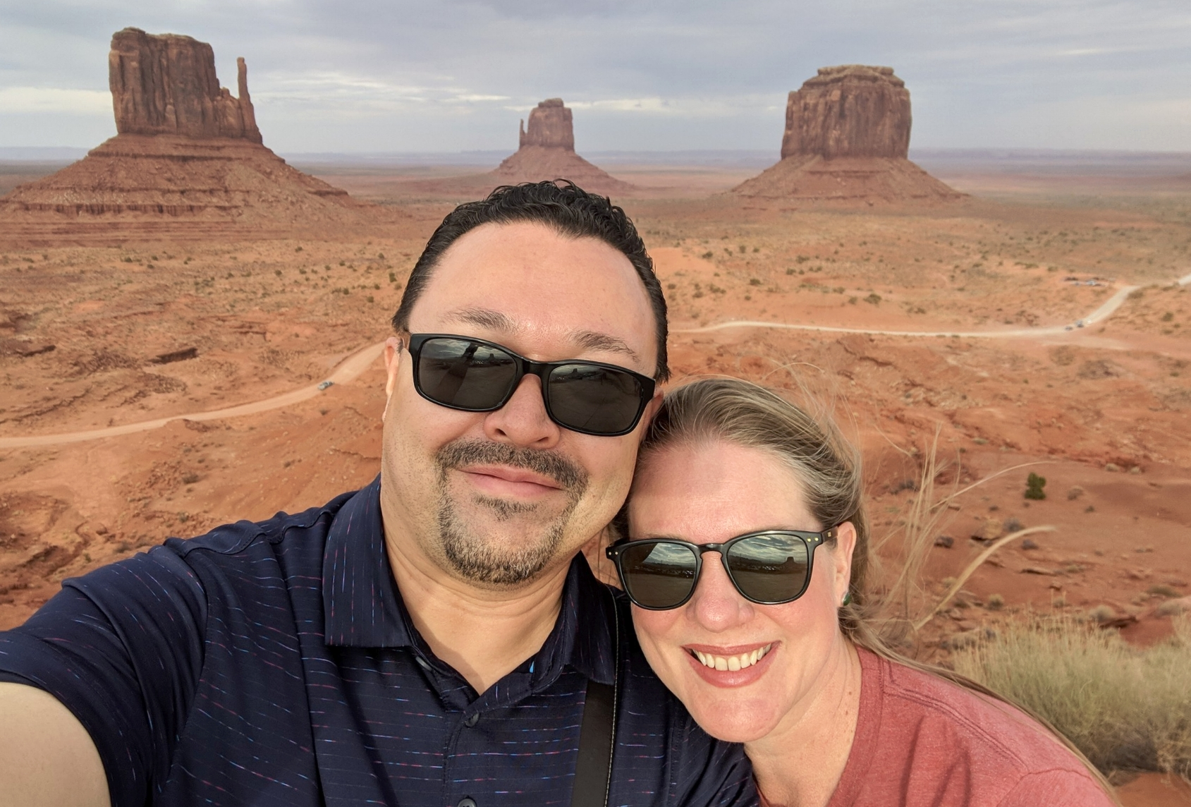 Jona and Marc Moorghen at Monument Valley, Utah